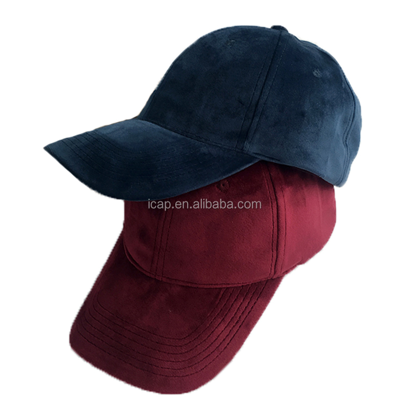 Wholesale high quality sued baseball hat popular blank suede baseball cap