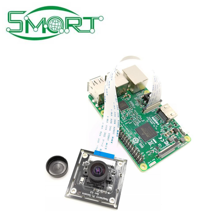 Smart Electronics~New Arrival Raspberry Pi 3 Model B+ Wide Angle Camera 5MP Adjustable-focus Mini Vision Video Camera module