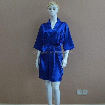 exceptional range of colors discount original Royal Blue Luxury Short Satin Silk Women Robe - Buy Satin Robe,Satin Women  Robe,Short Women Robe Product on Alibaba.com