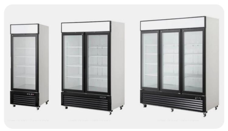 Porta singola bevanda di raffreddamento di visualizzazione bevande display frigorifero display frigorifero