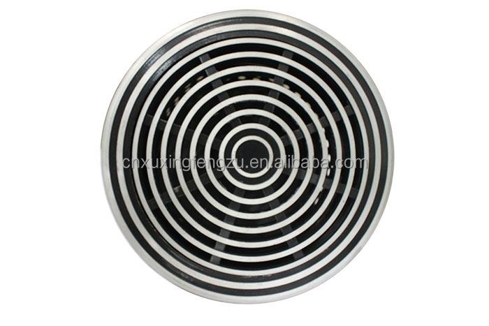 Circular Aluminum Round Vent Louver Floor Grills Air Diffuser