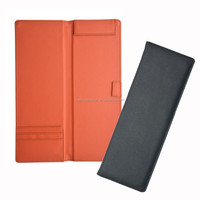 Hotel restaurant pu leather check bill presenter, leather menu card holder