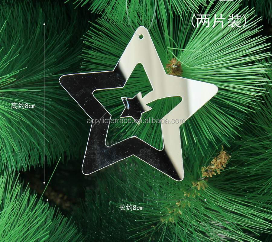 Crystal Lucite Christmas Star Ornaments,Christmas Tree ...