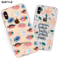 Custom phone case soft tpu back mobile phone cover case for iphone x 7 8 plus, for iphone x transparent case custom print