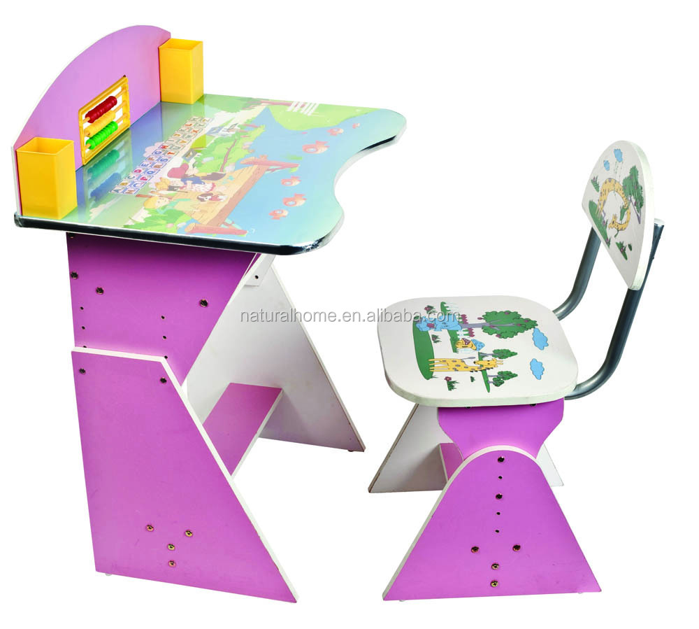 Tables and chairs cartoon - Kids Furniture Solid Wood Cartoon Study Table And Chair Set Wooden Reading Writing Tables And Chairs