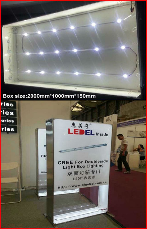 UL approved and CE RoHS compliant ,5 year warranty,1.6w 120lm high power led signage module for light box