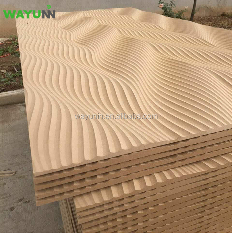 Paneles de pared interior decorativo en relieve tallado MDF 3D panel de pared
