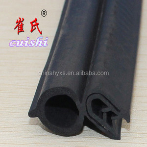 Automotive door and truck sealing strip with steel belt compound rubber