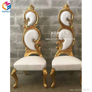 Factory wedding used golden classic fancy king chairs