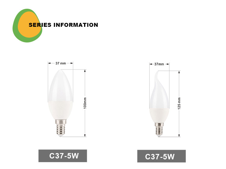 China supplier low price LED lights C37 5W