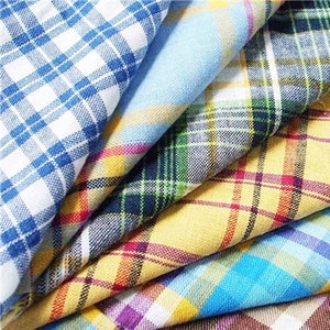 hot sale dyed gingham cotton check fabric for uniform material