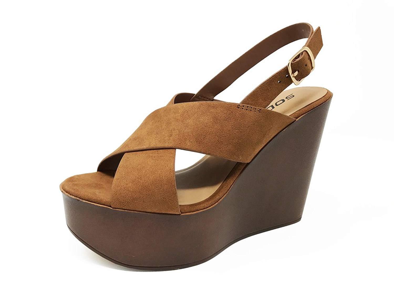 6ad6233da Get Quotations · Blue Lemon Women s Light Weight Platform Wedge Heel Faux Suede  Sandals