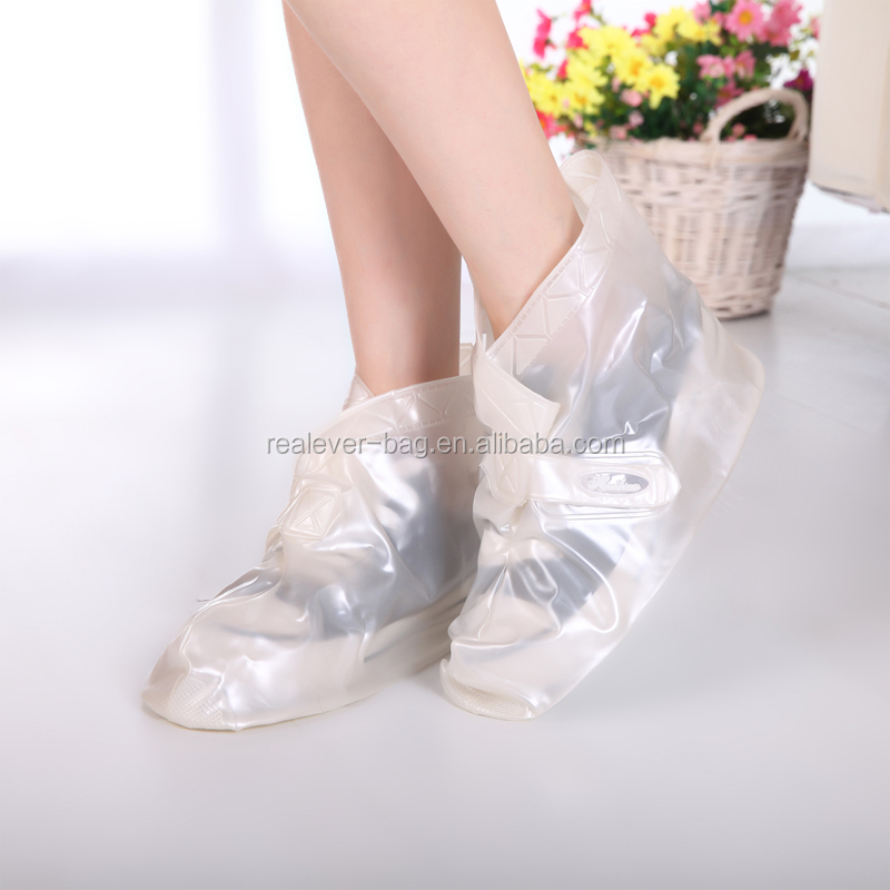 Transparent PVC portable adjustable stick waterproof rain shoe cover