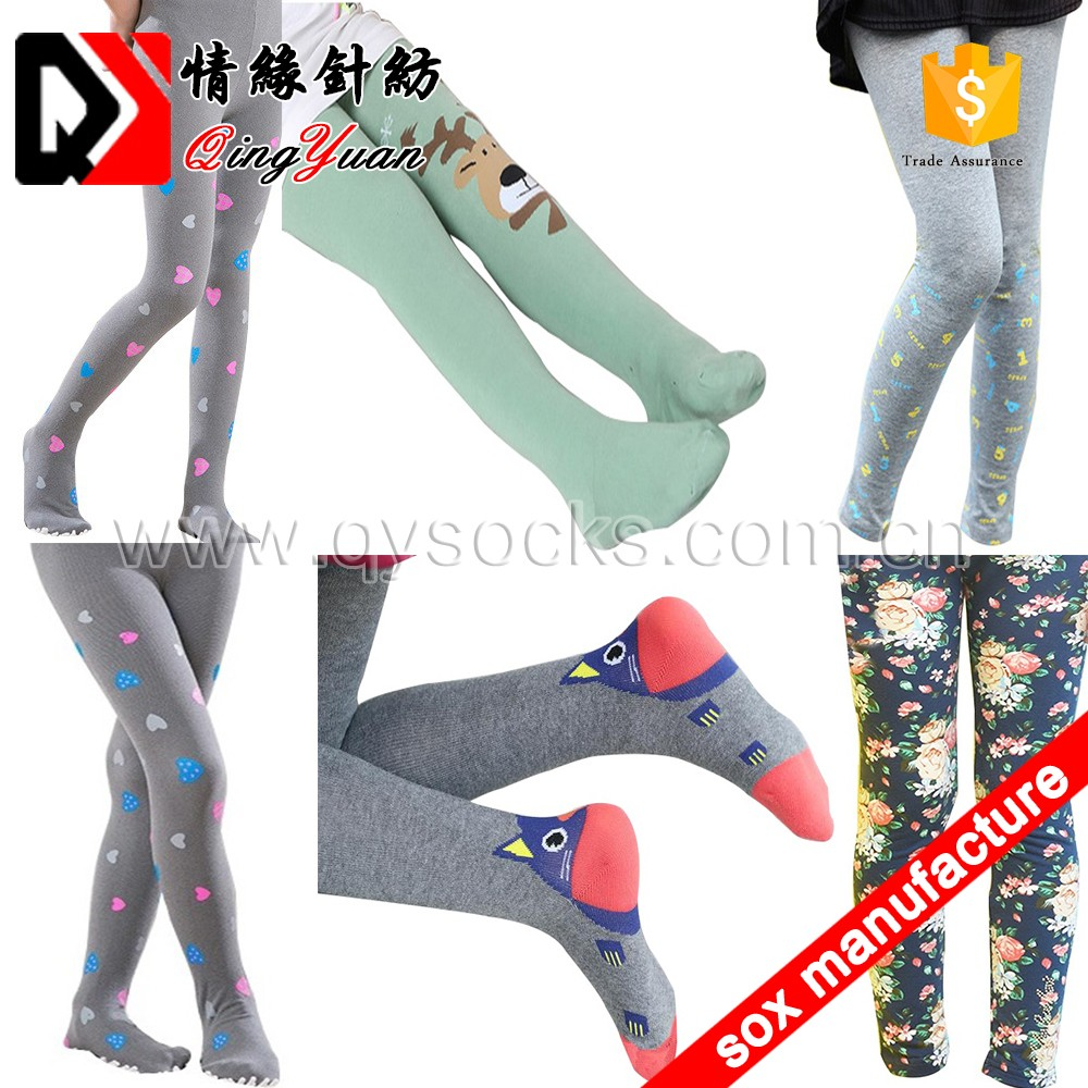 8946f764efc82 Colorfui hoseiry girl's opaque dance footed legging tights knitting cotton  children stocking nylon baby pantyhose