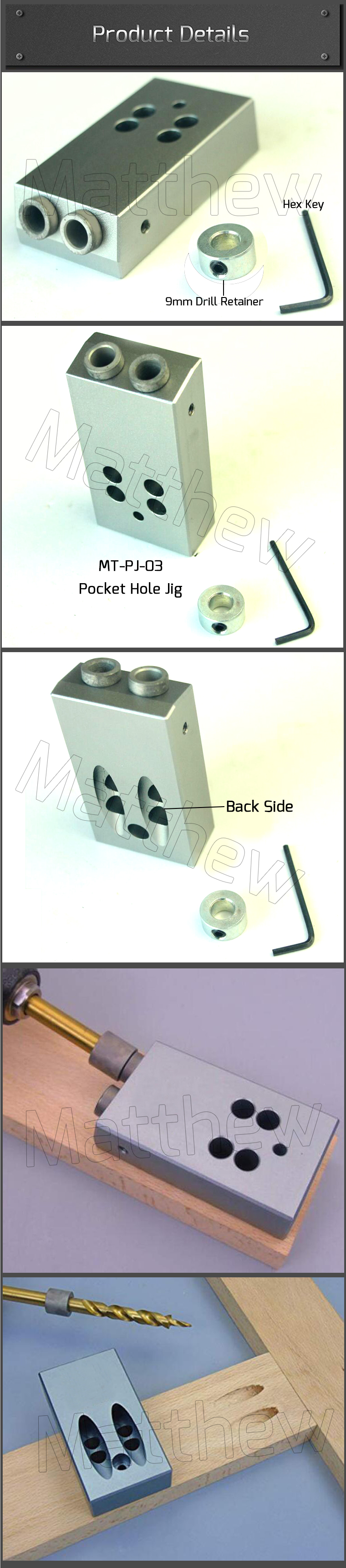 Easy Type Pocket Hole Jig For Wood Inclined Hole Drilling
