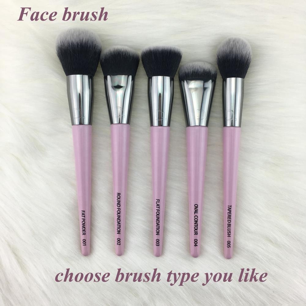 Wood Premium Taklon Synthetic Personalized Wholesale Your Own Brand Pink Custom Logo Private Label Professional Makeup Brush Set
