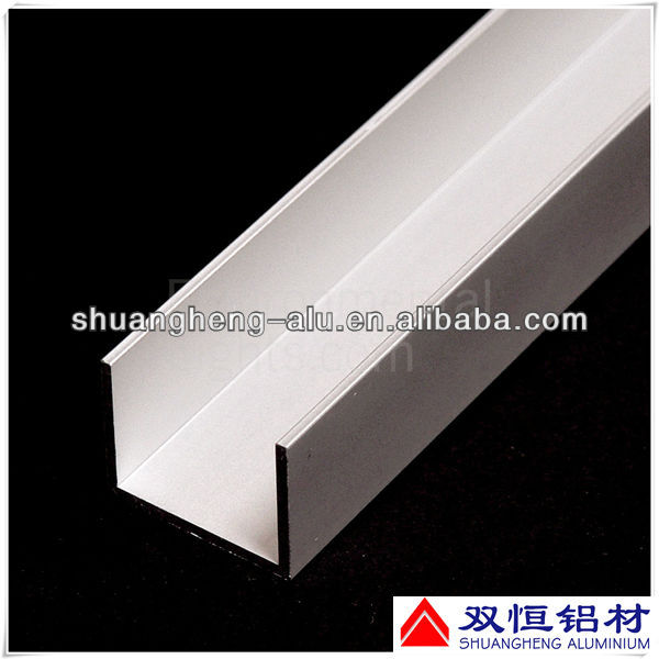 6063 T5 Extruded Aluminium U Profiles for Building