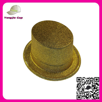 2016 Promotional China factory Shiny Color Party Hats mini glitter top hat  for sale 4d4a5117e539