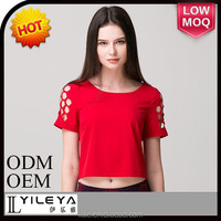 polyester t-shirtfor women sexy t-shirt polyester t-shirt
