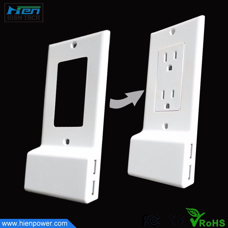Upgrade Traditional Wall Outlet Dual USB Power Outlet Coverplate US