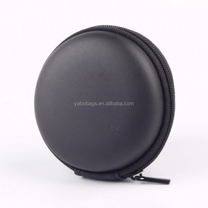 Round Shape Hard EVA Case Customized Earphones Compact Bag Headset Carry Case for Earphones