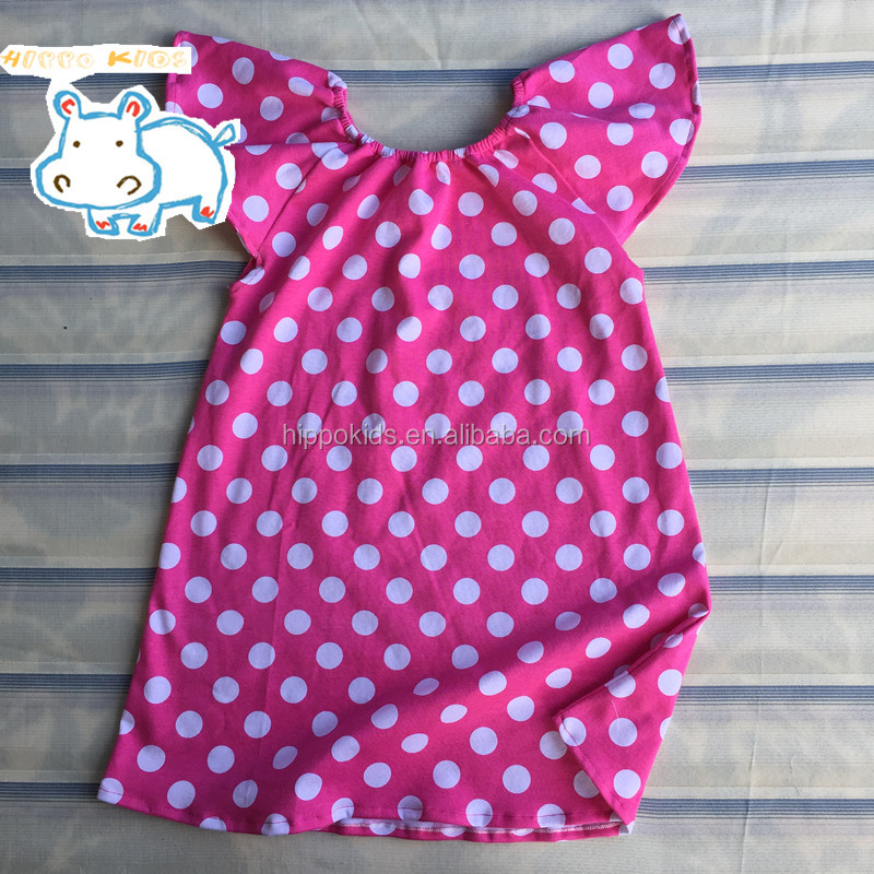 Polka dot cheap flower girl dress toddle smock dresses girls dresses boutique clothing