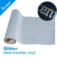 Kenteer PU high elastic glitter heat transfer vinyl for laser cutter