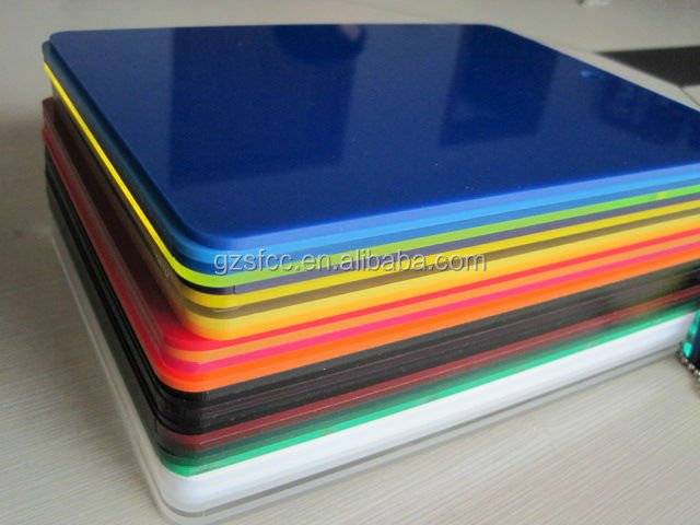 Translucent 10mm Frosted Acrylic Sheet Rigid Colored