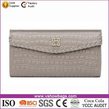New arrival wholesale portable small silver PU Ladies clutch wallet
