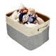 toys clothing foldable canvas fabric storage cube brown/gray basket storage