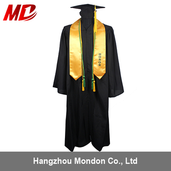 Custom Made Black Graduation Gown With Cap- Taiwan Style - Buy ...