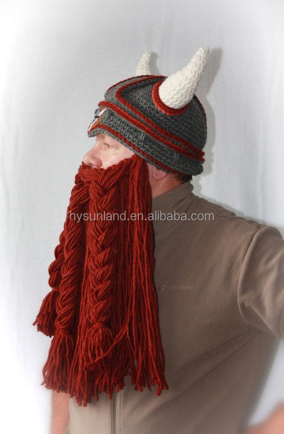 W-161 De Cuernos Barba Sombrero Vikingo Para Adolescentes Y Adultos ...