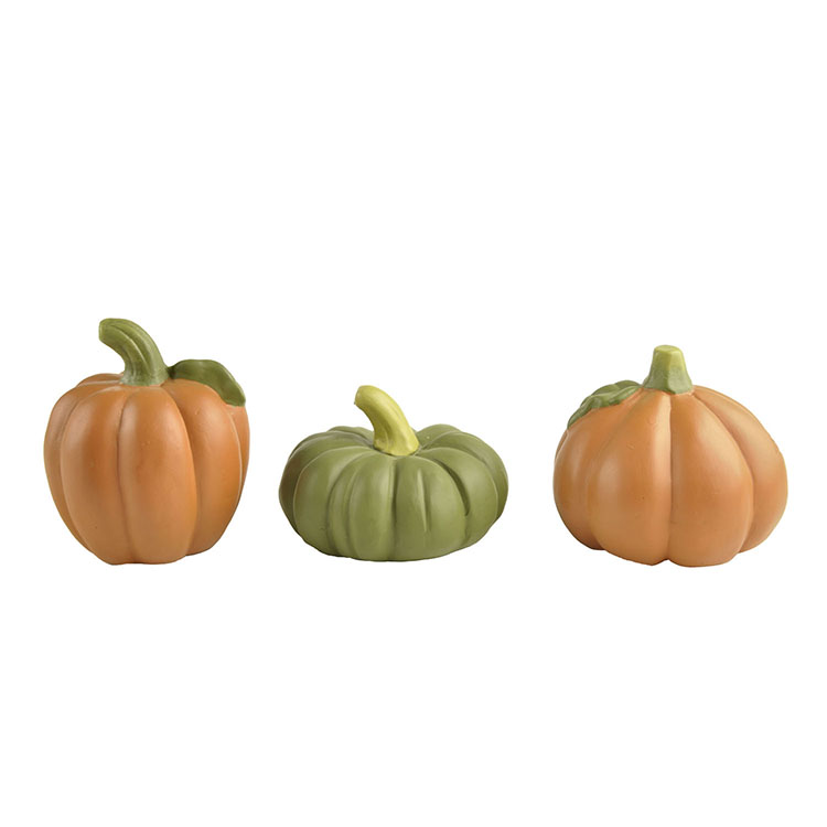 Newest Design Polyresin S/3 Large Pumpkin Ornaments