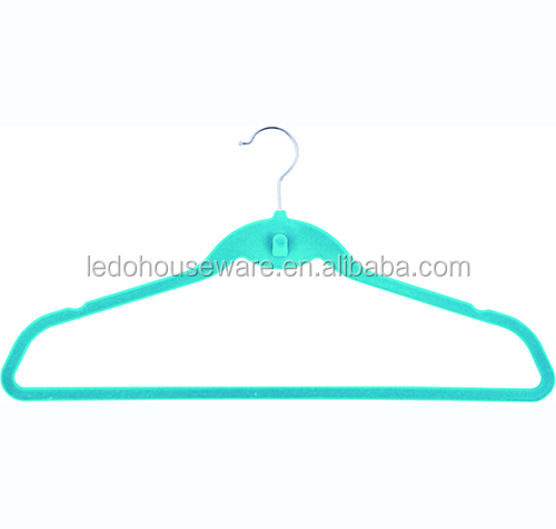 High quality plastic furniture all-purpose velvet hanger