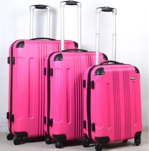 Stock 3pcs ABS suitcases trolley luggage sky travel luggage sets