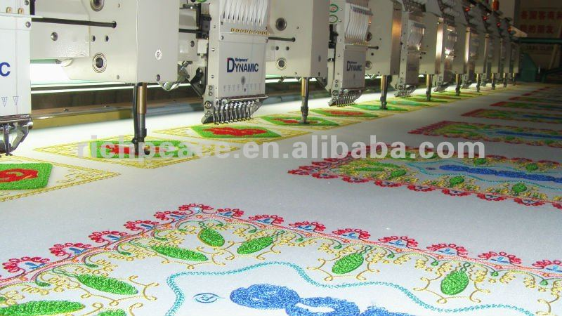 Computerized Dynamic Mixed Chenille Cording Embroidery Machine