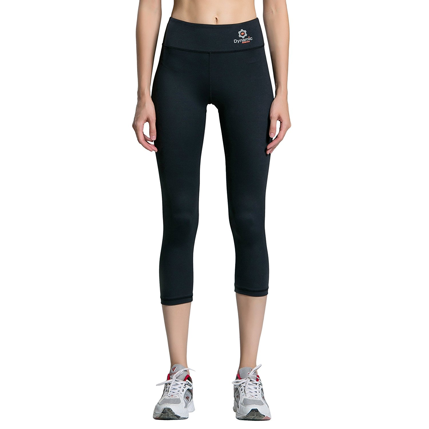 7c126ad7378b5 Dynamic Athletica Compression Capri Pants w Hidden Pocket No See-Thru UV  Protection & Gusseted