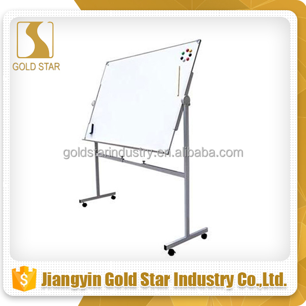 Hot selling metalen schildersezel display ezel doubleside whiteboard met stand