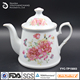 1L super white porcelain tea pot coffee pot for ceremony promotional gift