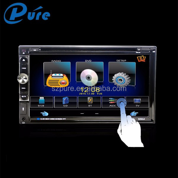 Universale Doppio Din Car DVD Player con USB SD AUX Radio Bluetooth Doppio Din Car Stereo