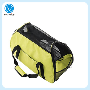 Folded Breathable Oxford Dog Cage Adjustable Pet Dog Cat Bag Airline-Approved Pet Carrier Bag 8