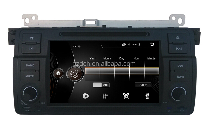 car dvd player Capacifive touch screen 1024X600 For BMW E46 original car UI with mirror link WS-9147