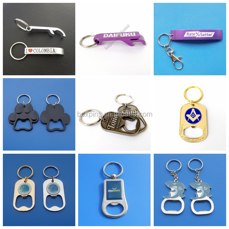 Gold Masonic gifts bottle opener key chains
