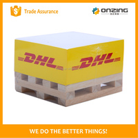Onzing good quality wooden pallet memo cube