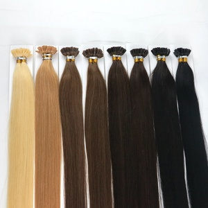 Quality Lasting one year russian remy extensions Nail Shape U Tip Prebonded Hair Blond 100 Keratin Tipped Human Hair