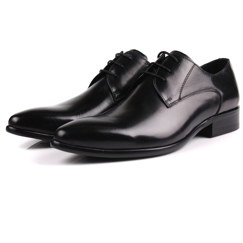 Comfortable business shoes mens formal dress shoes Genuine leather mens oxfords office shoes flats shoes mens wedding shoes 513