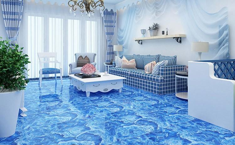 Canton Fair Best Selling Product Calacatta Ocean Blue Marble Tile