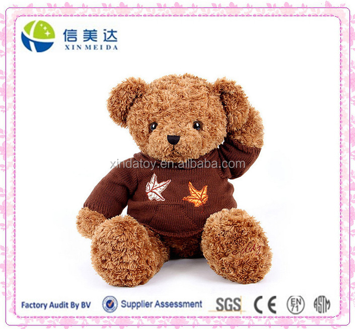 35cm Plush teddy bear dressed teddy bear plush toy