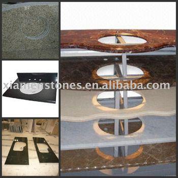 Prefabricated granite bathroom vantity top buy vanity top granite vanity top bathroom vanity for Premade granite bathroom vanity tops