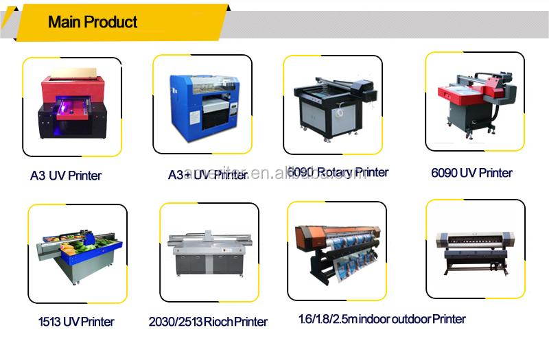 Multicolor Kleur & Pagina en Automatische Grade UV flatbed printer